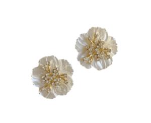Nicola Bathie Pearl Flower Studs